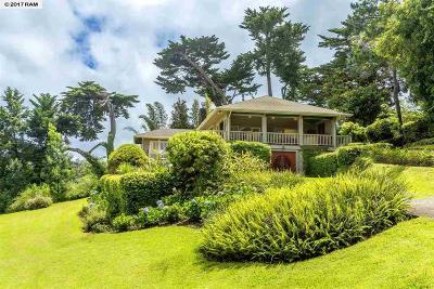 Kula, Wailuku Single Family Home For Sale: 64 Kawehi