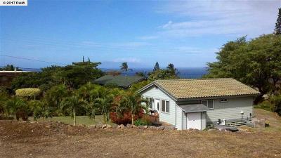 Maui County Single Family Home For Sale: 3145 Mapu