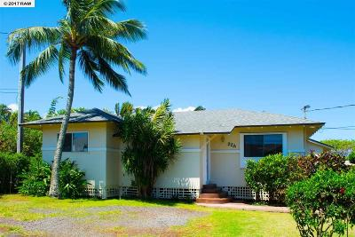 Paia Single Family Home For Sale: 22 Meha