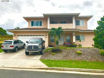 Wailuku Single Family Home For Sale: 124 Keoneloa St #Lot 17