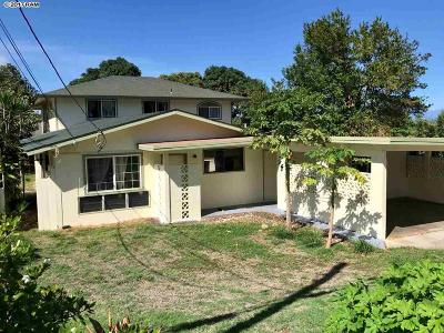 Wailuku Single Family Home For Sale: 1598 Mill
