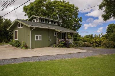 Kula Single Family Home For Sale: 4074 Lower Kula Rd