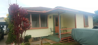Wailuku Single Family Home For Sale: 2054 Pakolu St