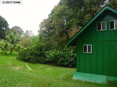 Hana Single Family Home For Sale: 344 Nahiku Rd