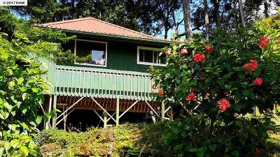 Hana Single Family Home For Sale: 475 Hana Hwy