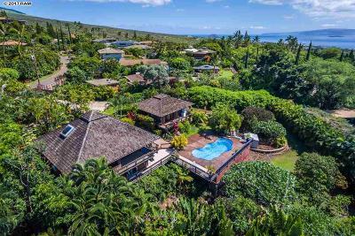 Maui County Single Family Home For Sale: 3450 Malina
