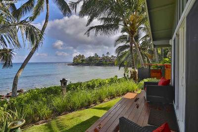 Paia Single Family Home For Sale: 621 & 639 Hana