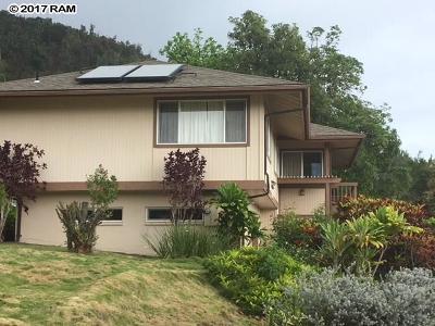 Single Family Home For Sale: 486 Polulani Dr