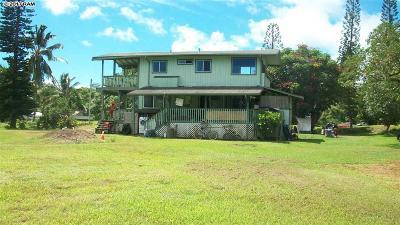 Hana Single Family Home Pending - Cont. To Show: 285 Alalele Pl #A