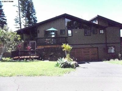 Kula Single Family Home For Sale: 174 Kulalani Dr