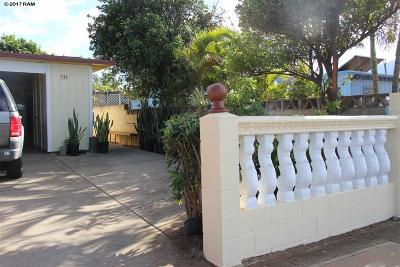 Kahului Single Family Home Pending - Cont. To Show: 533 W Papa Ave