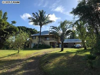 Haiku Single Family Home For Sale: 859 Peahi Rd