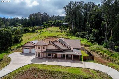 Makawao Single Family Home For Sale: 47 Naniuka Pl