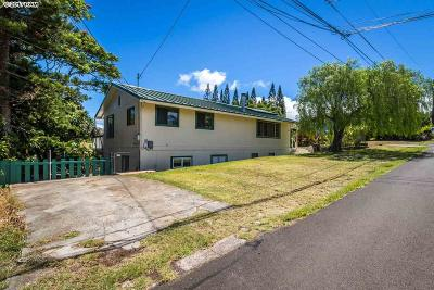 Makawao Single Family Home For Sale: 41 Hoolai St