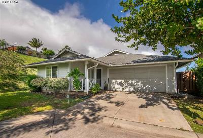 Wailuku Single Family Home For Sale: 89 Poniu Cir