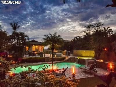 Kihei HI Single Family Home For Sale: $1,595,000