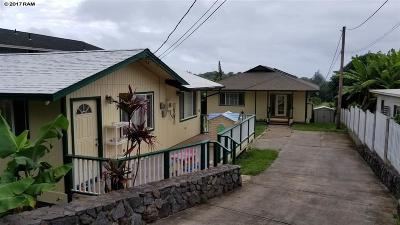 Wailuku HI Single Family Home For Sale: $699,000