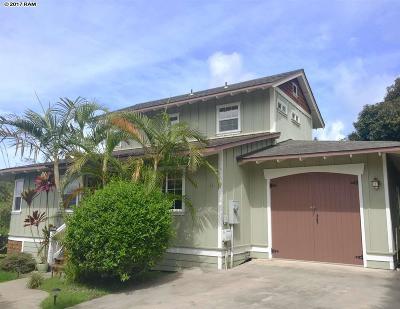 Kula Single Family Home For Sale: 17 Hookano Pl #A