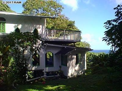 Hana Single Family Home For Sale: 1155 Nahiku Rd