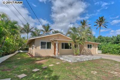 Wailuku HI Single Family Home For Sale: $629,000