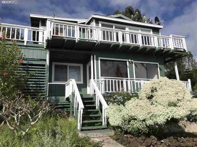 Kula Single Family Home For Sale: 2480 Upper Kanaio Rd
