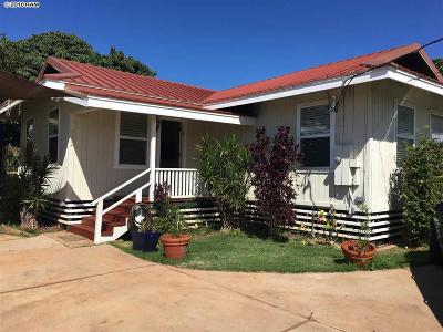 Single Family Home For Sale: 463 Lahainaluna Rd