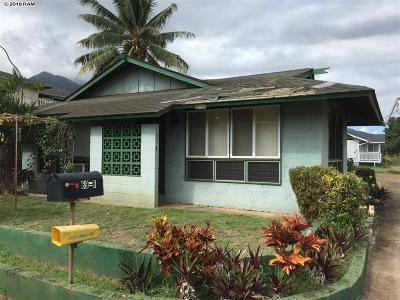 Wailuku Single Family Home For Sale: 69-B Kaulike Pl