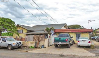 Wailuku Single Family Home For Sale: 575 Linekona Pl