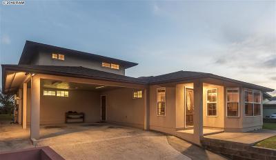 Kahului Single Family Home For Sale: 345 Ohaa St