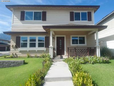 Kahului Single Family Home For Sale: 106 Meheu Cir