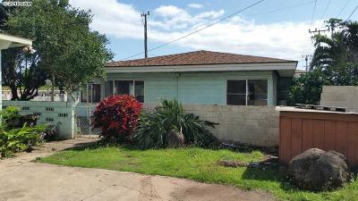 Maui County Single Family Home For Sale: 480 Waiehu Beach Rd