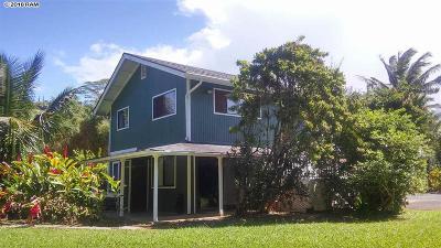 Maui County Single Family Home For Sale: 164 Ulumalu Rd