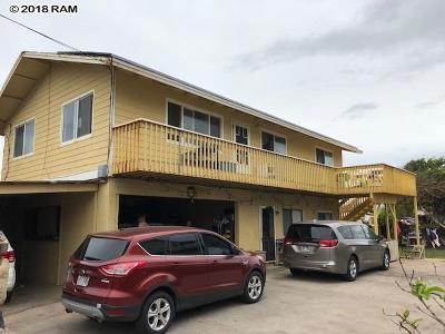 Wailuku Single Family Home For Sale: 547 Kailana St