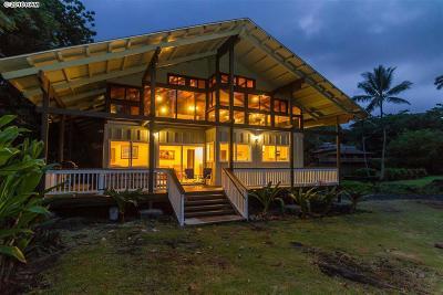 Hana Single Family Home For Sale: 140 Waikoloa Rd