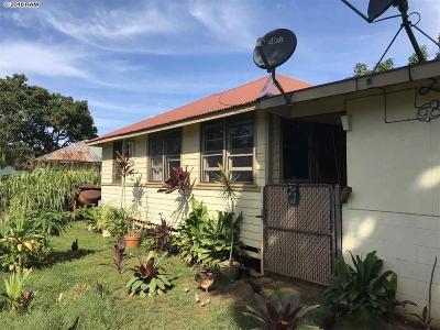 Haiku Single Family Home For Sale: 952 Kahealani St