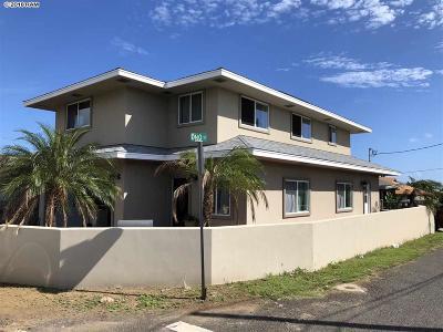 Wailuku Single Family Home For Sale: 250 Halewili Dr