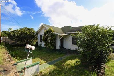 Wailuku Single Family Home For Sale: 264 Pua Pl