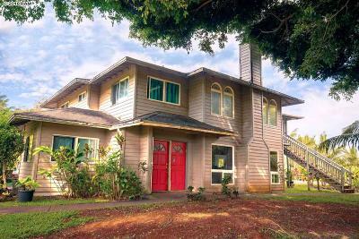 Haiku Single Family Home For Sale: 1590 Kauhikoa Rd