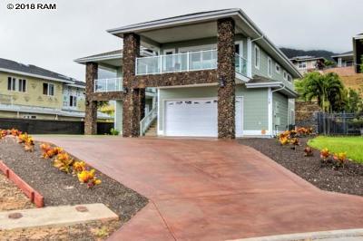 Wailuku Single Family Home For Sale: 15 Nohoana Pl