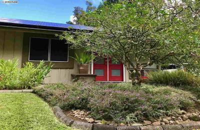 Haiku Single Family Home For Sale: 389 Ulumalu Rd