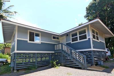 Haiku Single Family Home For Sale: 1337 W Kuiaha Rd