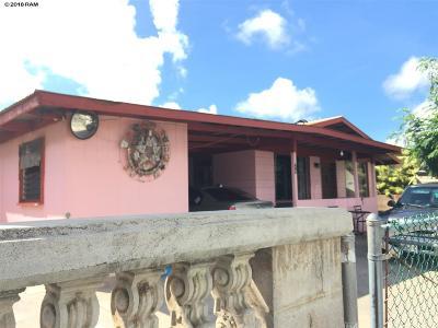 Kahului Single Family Home For Sale: 74 Puukani St
