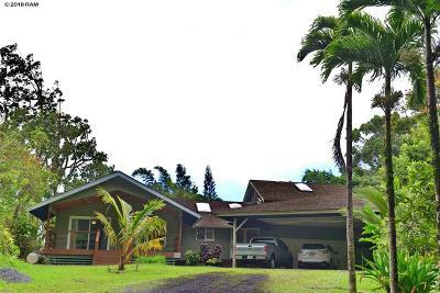 Haiku Single Family Home For Sale: 600 Kaupakalua Rd