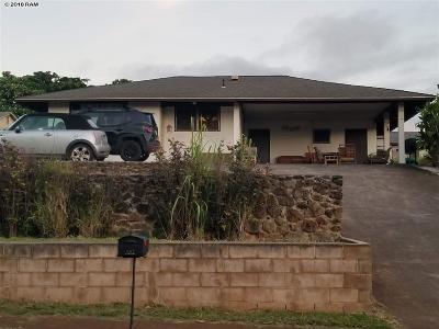 Pukalani Single Family Home For Sale: 181 Alohilani St