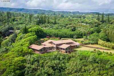 Haiku Single Family Home For Sale: 770 Honokala Rd