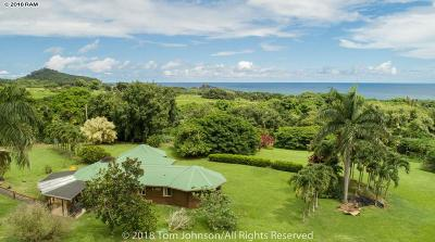 Hana Single Family Home For Sale: 85 Kapia Rd