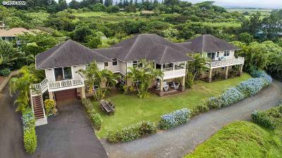 Makawao HI Single Family Home For Sale: $2,350,000