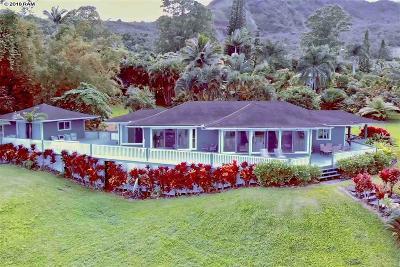 Hana Single Family Home For Sale: 275 Kalo Rd