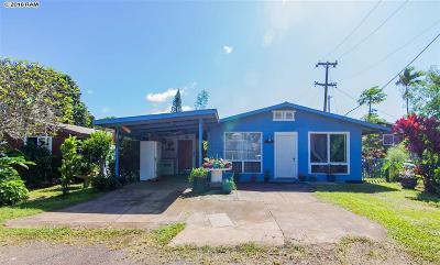 Haiku Single Family Home For Sale: 976 Noholani St