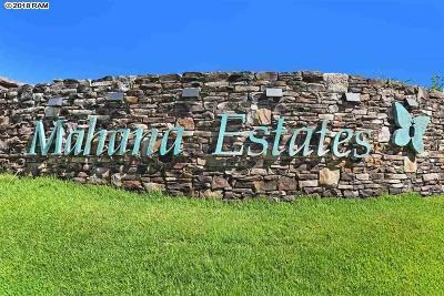 Residential Lots & Land For Sale: 325 Mahana Ridge St #22